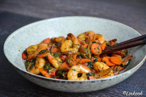 Wok de crevettes au tamari | ©Yood (Good food good mood for you)