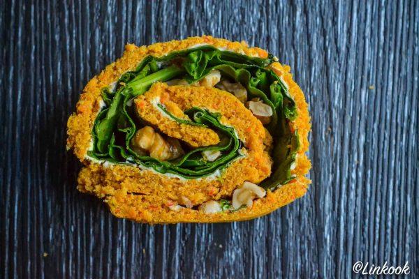 Roulé moelleux aux carottes & poivron | ©Yood (Good food good mood for you)