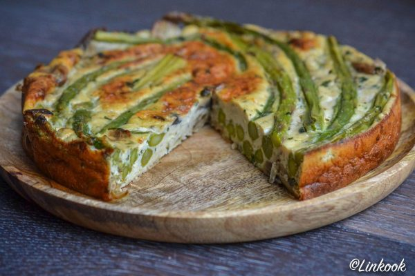 Frittata aux asperges & champignons   ©Yood (Good food good mood for you)
