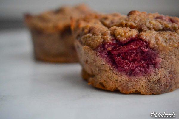 Banana muffins framboise & pépites de chocolat | ©Yood (Good food good mood for you)