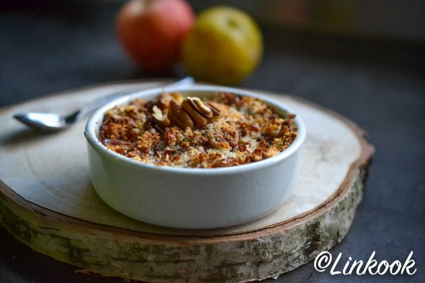 Crumble sain de pommes & prune à l Okara | ©Yood (Good food good mood for you)