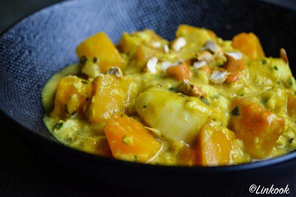 Curry de cabillaud & St Jacques à la courge | ©Yood (Good food good mood for you)