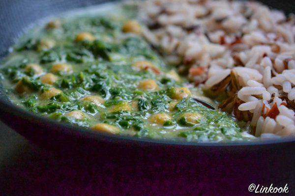 Curry de pois chiches crémeux aux épinards | ©Yood (Good food good mood for you)