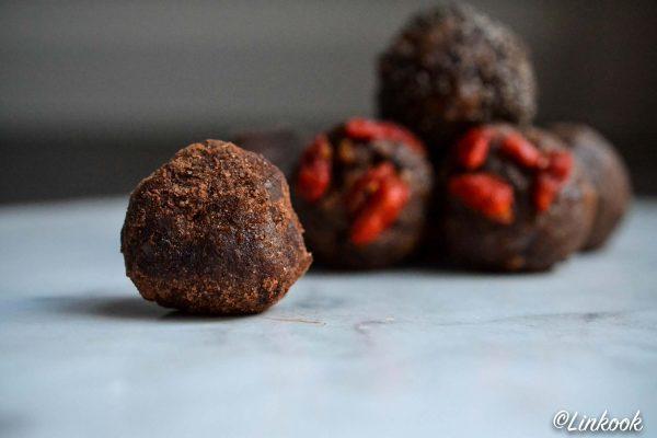 Energy balls cacahuètes & chocolat | ©Yood (Good food good mood for you)