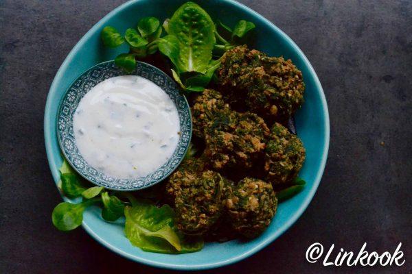 Falafels aux épinards & pignons | ©Yood (Good food good mood for you)