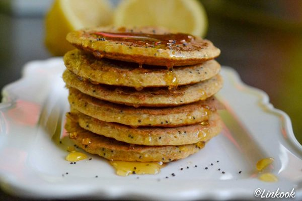Pancakes protéinés citron & pavot | ©Yood (Good food good mood for you)