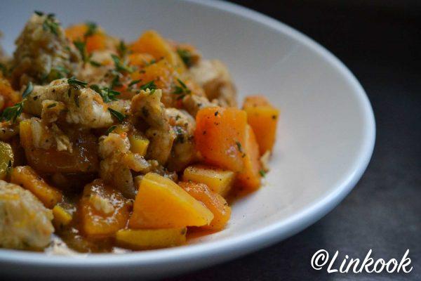 Poulet à la courge ail & au thym | ©Yood (Good food good mood for you)