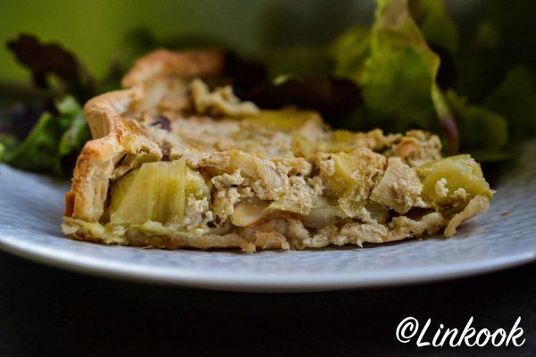 Quiche aux poireaux vegan & sans lactose | ©Yood (Good food good mood for you)