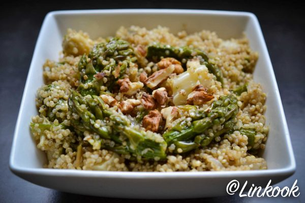 Quinotto aux deux asperges & noix | ©Yood (Good food good mood for you)