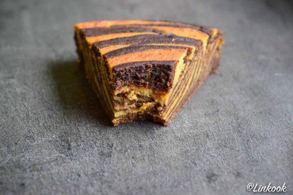 Tiger cake végétalien & sans gluten | ©Yood (Good food good mood for you)